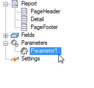 Add Parameters in a Section Report