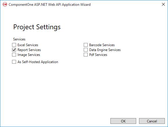 ComponentOne Studio Web API Edition - Report Services