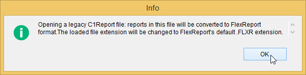 Upgrading C1Report to FlexReport