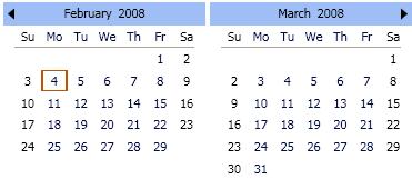 multiple month calendars