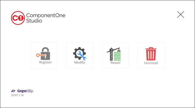 ComponentOne Studio Web API Edition - Uninstall Web API