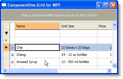 ComponentOne Grid for WPF Help