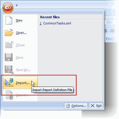 Importing Crystal Reports